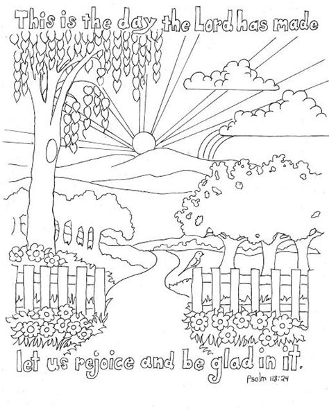 Coloring Page 24 by Psalm 118 24 Color Page Sunday School God