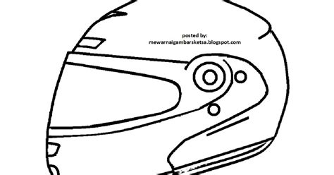 mewarnai gambar mewarnai gambar sketsa helm 2