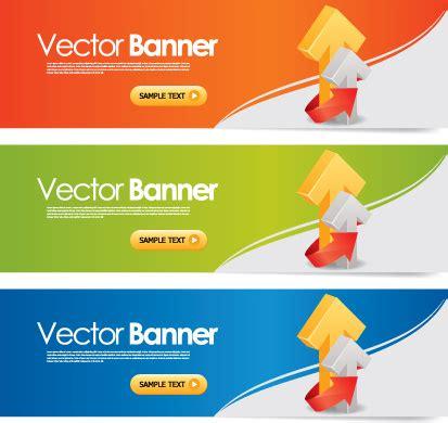 banner design vector download elements of colored banner design vector free vector in