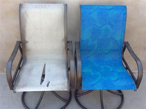 repair sling chairs the blue color sling chair repair patio king az mi