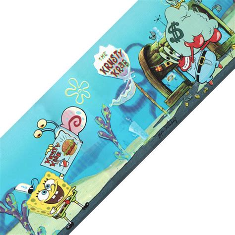 Wallpaper Sticker Spongebob 1 spongebob squarepants krusty krab prepasted wallpaper border contemporary wall decals by