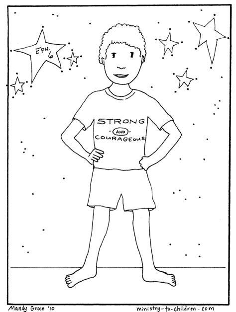 vbs coloring pages armor of god 3