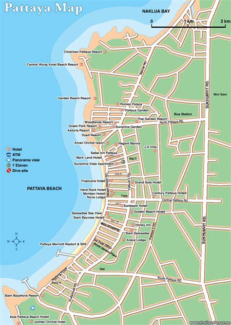 map hotels pattaya hotel map pattaya mappery