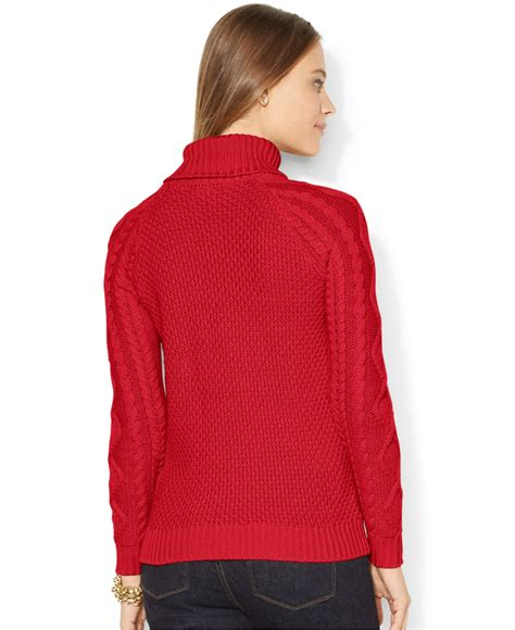 cable knit turtleneck by ralph cable knit turtleneck sweater in