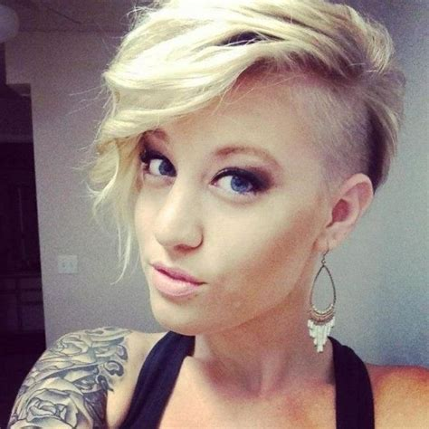 popular short hairstyles  side shaved