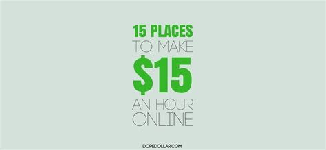 Make Money Online In One Hour - 15 places to make 15 per hour online dope dollar