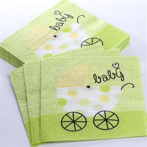 Baby Napkins lime green quot baby quot carriage paper napkins baby shower
