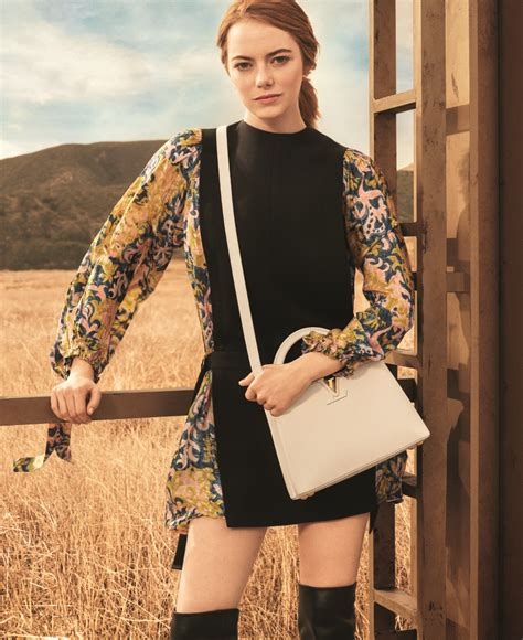 Emma Stone Vuitton | emma stone louis vuitton caign debut actress face of