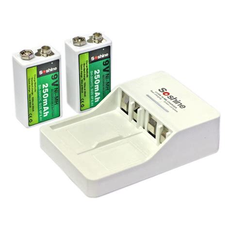 rechargeable 9v battery and charger soshine 9v li ion ni mh rechargeable battery charger 9v