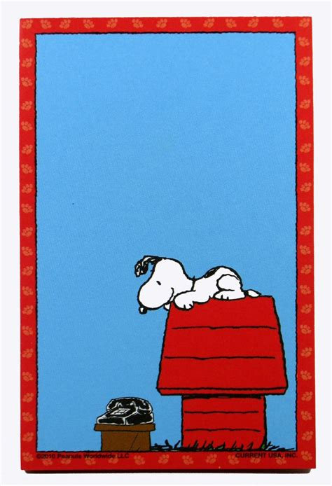 Waiting For The Call Metal Snoopy Magnetic Note Pad Waiting For Phone Call