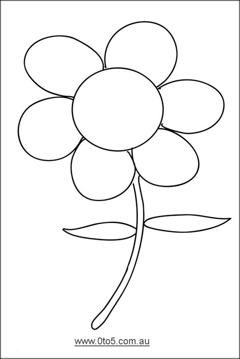 best photos of template of flower 5 petal flower