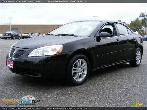 pontiac g6 black 2006 pontiac g6 v6 sedan black photo 1