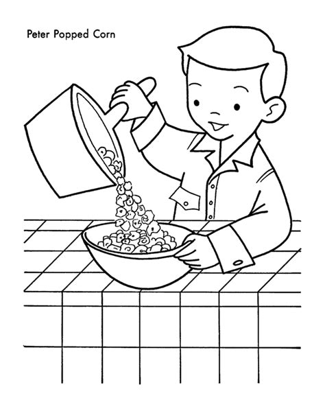 how to color popcorn popcorn coloring pages to and print for free