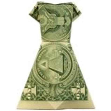 Money Dress Origami - how to fold money origami or dollar bill origami