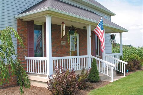 Homes With Wrap Around Porches 8x8 square fluted aluminum column white