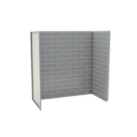bathtub wall kits maax utile tub shower wall kit 6030 metro ash grey the home depot canada