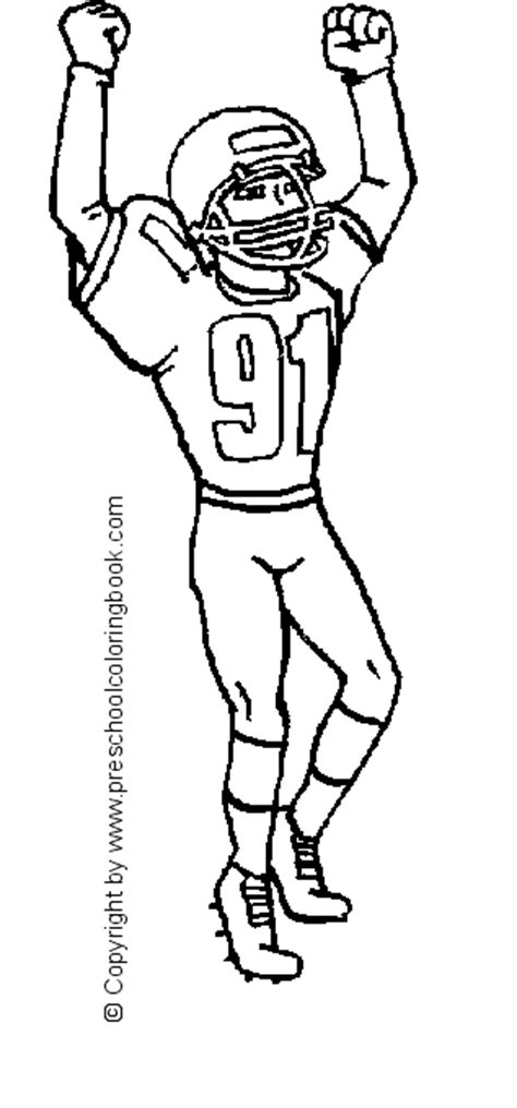 Transmissionpress Football Player Of Sports Coloring Pages Football Player Color Pages