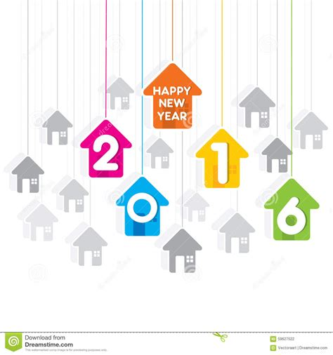 home design for new year happy new year 2016 design stock vector image 59627522