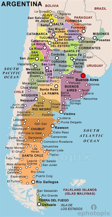 map of argentina with cities 25 best ideas about argentina map on