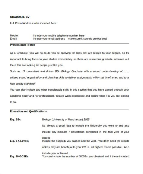 graduate cv template word cv templates free word document