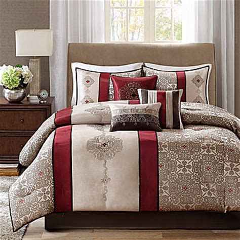 bedding at jcpenney jcpenney madison park blaine 7 pc jacquard comforter set