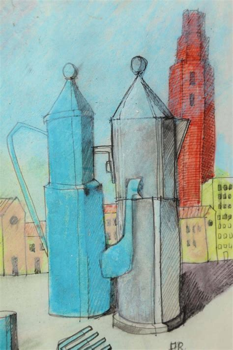 Rare Postmodern Aldo Rossi Drawing For Sale at 1stdibs