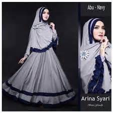 Syari Baju Muslim Keren 20 model baju muslim gamis kombinasi syar i terbaru