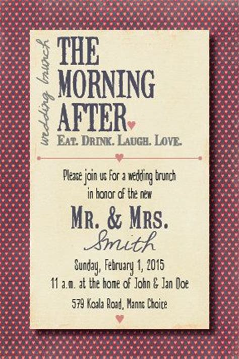 Wedding Anniversary Brunch Ideas by Morning After Wedding Brunch Invitation By