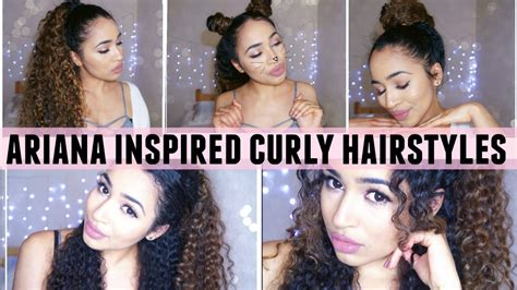 how to do the grande hairstyle ariana grande inspired curly hairstyles youtube