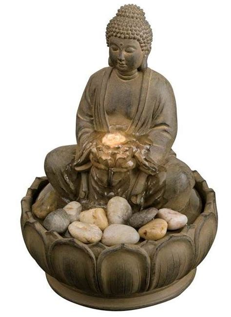 golden buddha water feature w alpine tabletop buddha water feature w led light buddha