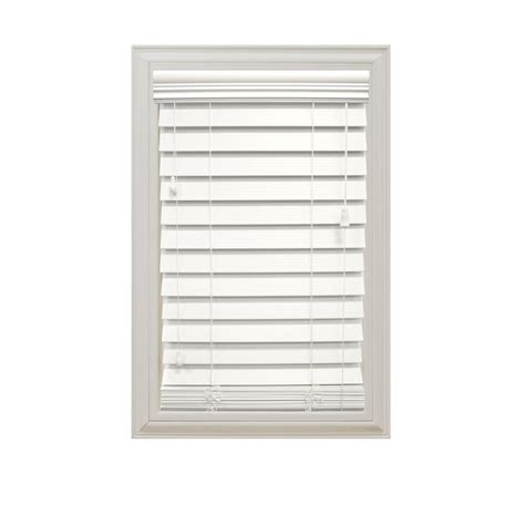 Home Decorators Collection Faux Wood Blinds by Home Decorators Collection White 2 1 2 In Premium Faux Wood Blind 72 In W X 72 In L Actual