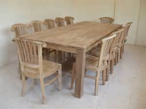 Large Rustic Dining Room Tables by Rustic Recycled Teak Bogor Large Dining Table