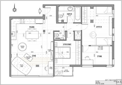 detailed floor plan detailed apartment floor plan after renovation by
