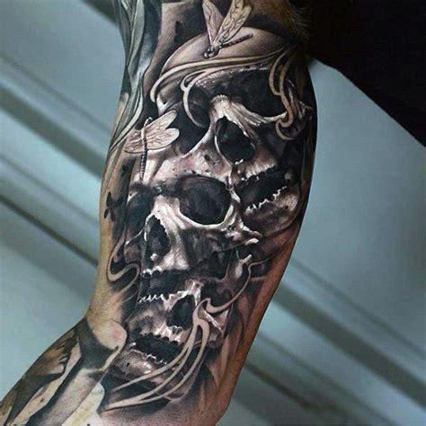 skull sleeve tattoos for men 1000 ideas about arm tattoos on tattoos