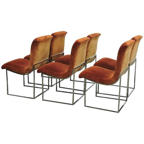 Scoop Dining Chairs Six Milo Baughman Chrome Scoop Dining Chairs For Thayer Coggin At 1stdibs