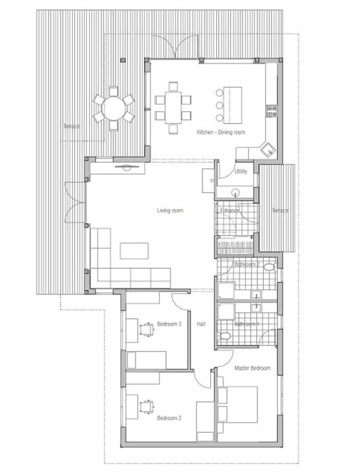 Affordable Small Home Floor Plans Contemporary House Plans Affordable Small House Plan Ch128