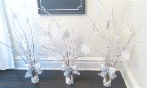 do it yourself winter wedding decorations beyond the portico winter centerpieces with diy quot icy branches quot