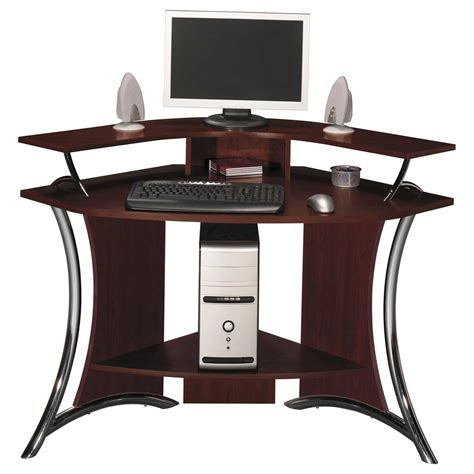Corner Wood Computer Desk Corner Computer Desk For Effective Space My Office Ideas