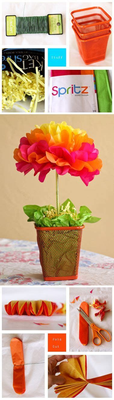 an easy tissue paper flower centerpiece tutorial by