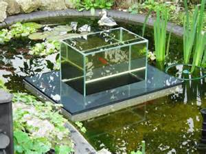 Backyard Fish Farm Floating Fish Koi Pond Observatory Lets You View Your Fish