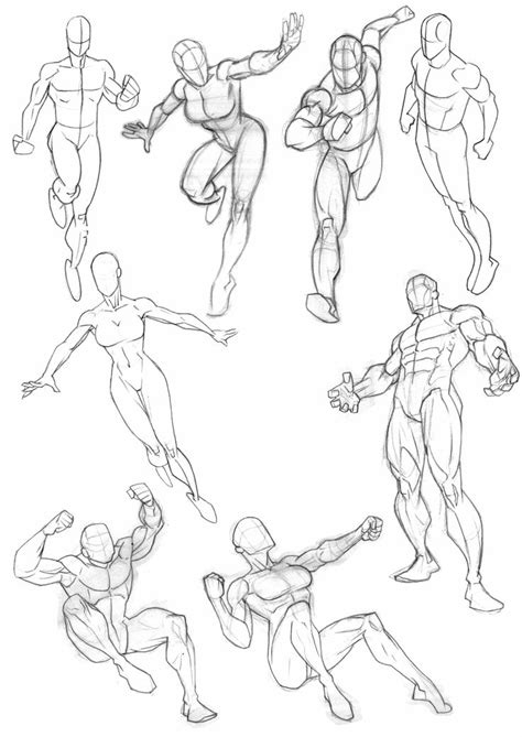 Sketches Poses compilation of anatomy and pose sketches from my