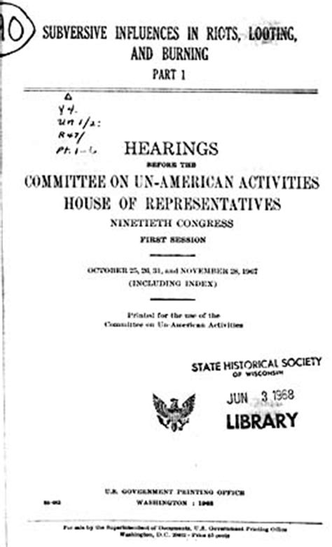 house committee on unamerican activities quot subversive influences quot house un american activities committee huac