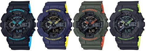 Casio G Shock Gac 110 Green g shock ga 110ln layered neon color series g central g