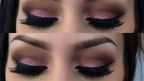 Eyeshadow Glitter pink glitter valentines day makeup tutorial