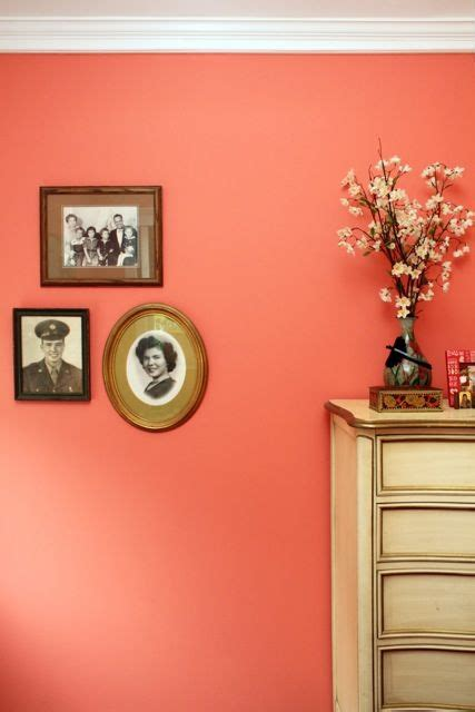 best vintage decals with peach wall color using sage green behr coral and paint colors on pinterest