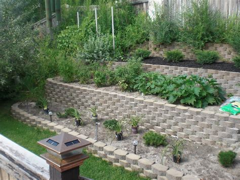 sloped backyard before and after triyae com terracing ideas for a sloping backyard