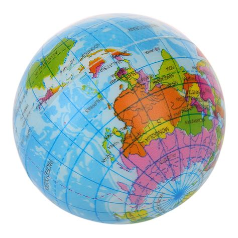 world globe map world map foam earth globe stress relief bouncy atlas geograp gift ts ebay