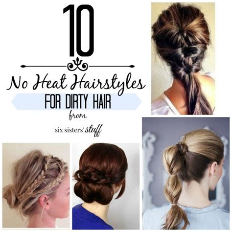 updo hairstyles no heat 10 no heat updo s for dirty hair six sisters stuff