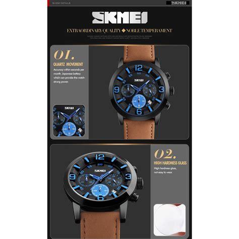 Jam Tangan Quiksilver Pria Hb1683 Brown Blue skmei jam tangan analog pria 9147cl brown blue jakartanotebook