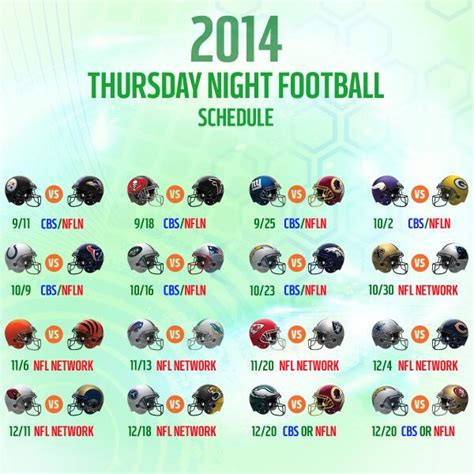 Calendario Nfl 2014 Nfl 2014 15 Schedule How Does Cbs S Prime Time Slate